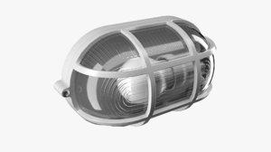 oval lamp grid light 3D