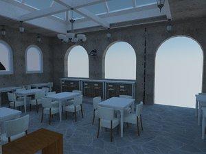 mediteranian cafe 3D