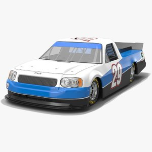 nascar pickup truck race car 3D model