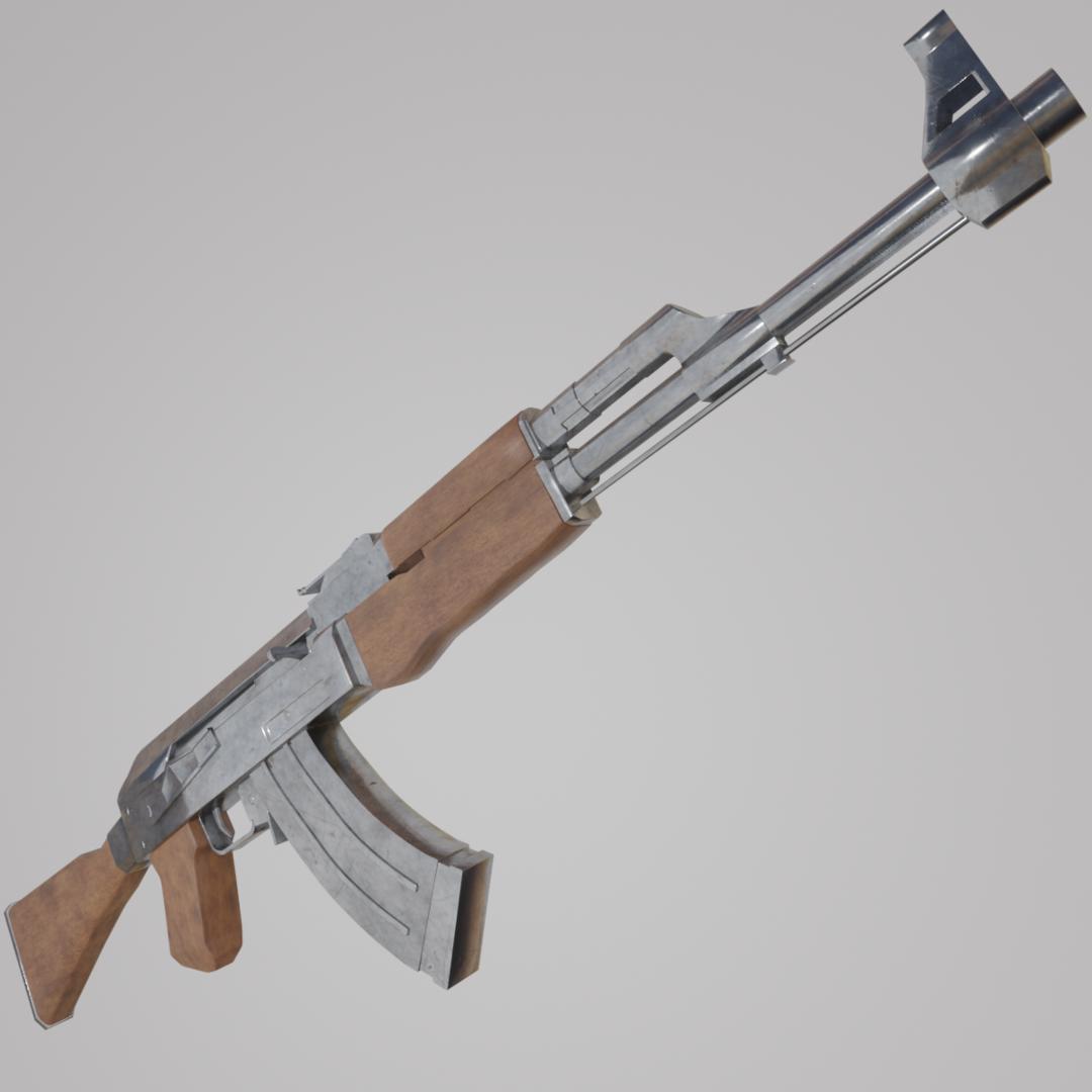 3D ak-47 ak model