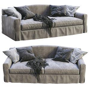 meridiani sofa neuman 3D model