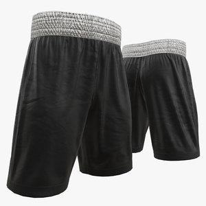 3D model boxing shorts