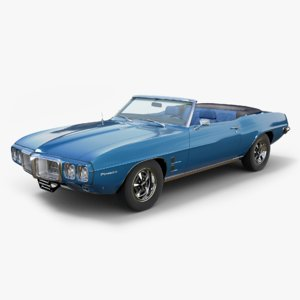 3D model 1969 pontiac firebird