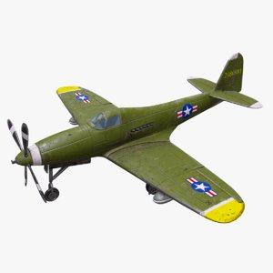 3D bell p-63 kingcobra fighter plane