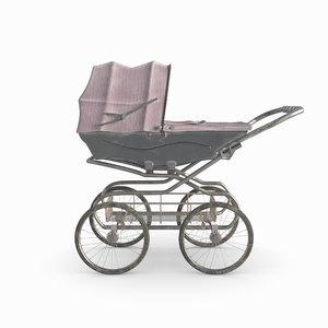 3D renders stroller baby