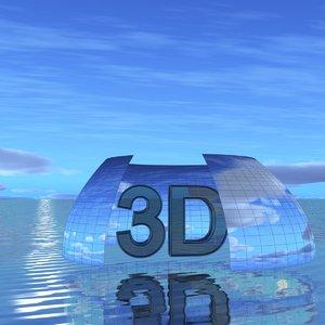 sky clouds 3D