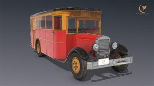 3D model low-poly zis 8 1934