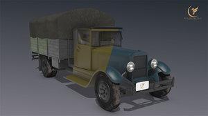low-poly zis 8 1934 3D model