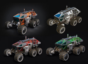 3D space mars rover model