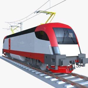 3D siemens locomotive taurus model