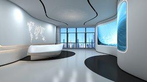 office reception 2 3D