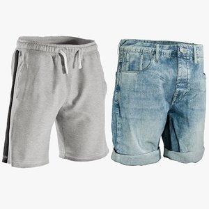 realistic men s shorts 3D model