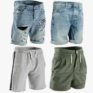 3D model realistic men s shorts