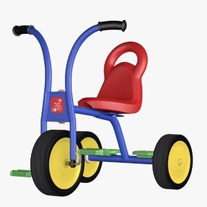 child bike tricycle 3D model