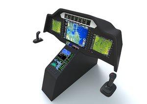 aircraft control panel 3D model