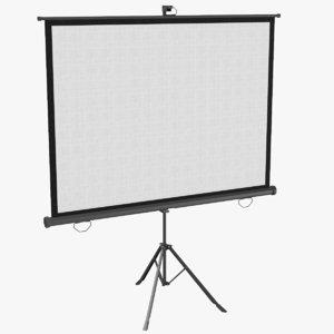 real projector screen 3D model