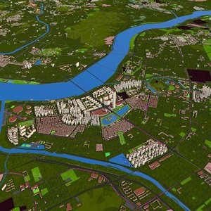 seoul city korea 2020 3D model