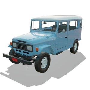 toyota land cruiser fj40 3D model