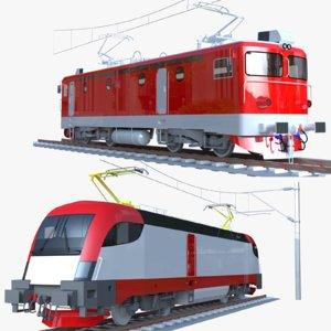 3D locomotive siemens model
