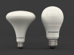 3D model led light bulbs