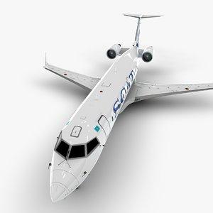 airlines bombardier crj 200 3D