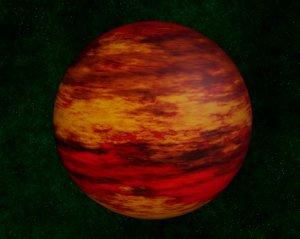 3D model brown dwarf star