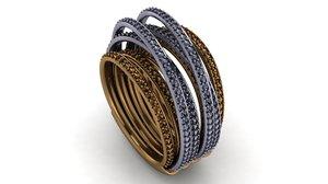 3D allegra ring model