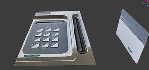 ecurity keypard lock key 3D model