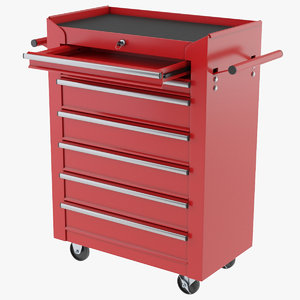 3D toolbox trolley model