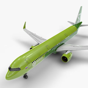 3D model a321 neo s7 airlines