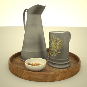 glass tray jug model