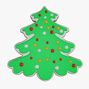 3D christmas cookie fir