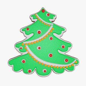 christmas cookie fir 3D model