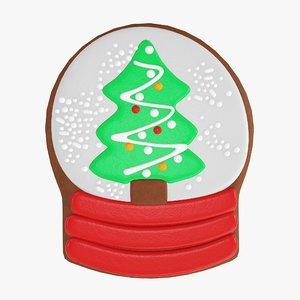 christmas cookie fir 3D