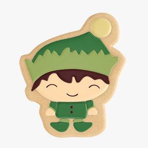 3D christmas cookie elf model