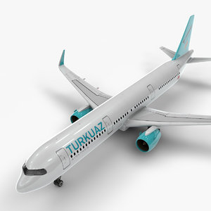 3D a321 neo turkuaz airlines