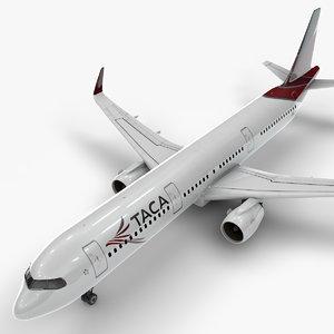 a321 neo taca airlines 3D model