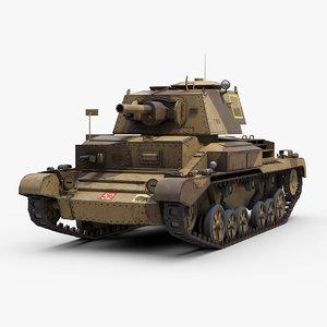 3D model ww2 a10 cruiser tank track
