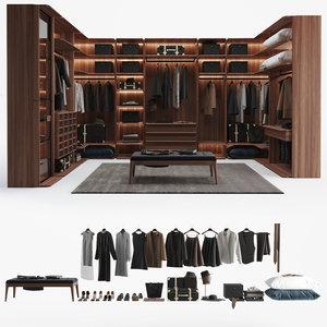 3D porada wardrobe model