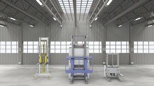 industrial forklift assembly agv 3D model