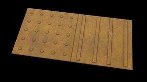 japanese braille block 3D model