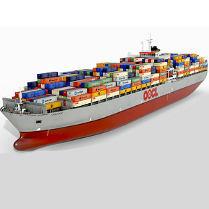 container ship 300m 3D