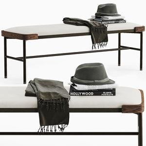 3D porada astol bench model