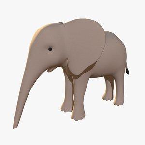 stylized elephant calf 3D model