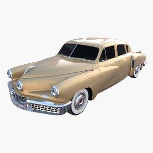 generic 40s sedan 3D model