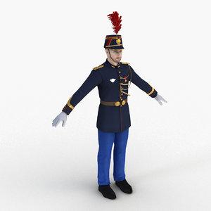 3D model french republican guard