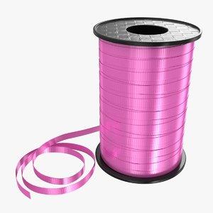 3D model ribbon rolls 03