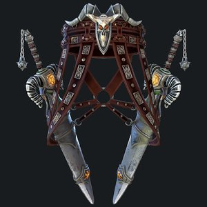 fantasy swords scabbard modeled 3D model