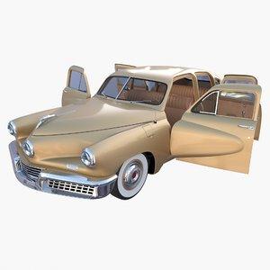 generic 40s sedan interior 3D