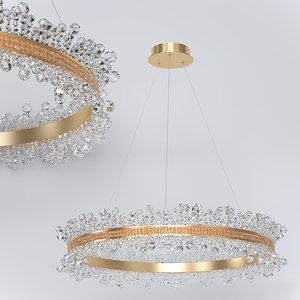 chandelier kink light 600 3D model